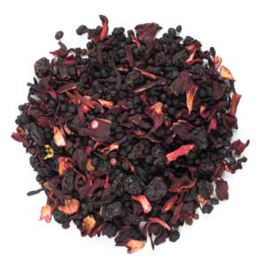 Aromatisierter Früchtetee mit Himbeer-Kirschgeschmack